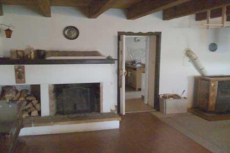 Ubytování Lipno - Chalupa na Lipně - obývací pokoj